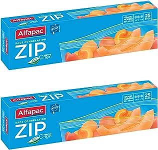 Alfapac - Bolsas de congelación, grande, biodegradable, pack de 2 ...