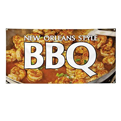 Amazon Com Vinyl Banner Sign New Orleans Style Bbq