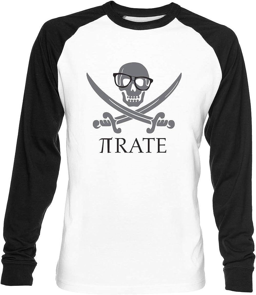Pirata Humor Mates Número Pi Empollón Camisa Unisex Blanca De Béisbol Camiseta Hombre Mujer Baseball T-Shirt: Amazon.es: Ropa y accesorios