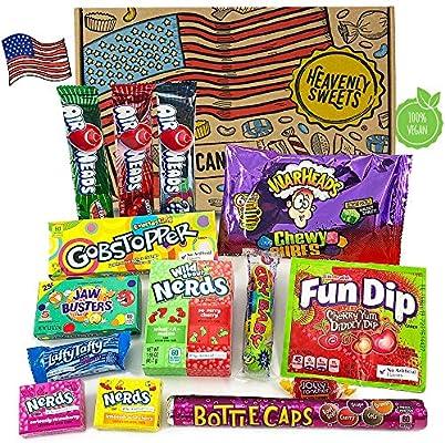 Heavenly Sweets Dulces Veganos Americanos - Selección de Golosinas y Chocolates de EE.UU. - Regalo de Navidad, Cumpleaños, San Valentín - 14 Piezas en ...