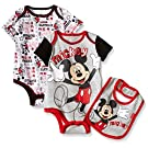 Disney Baby Mickey Mouse 3 Piece Layette Set, Heather, 0-3 Months