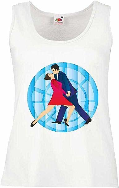 Camisa del músculo Tank Top Baile de Salsa Tango Danza FOXTROTT Vals Pareja de Baile Hiphop del Rock N Roll Manga en Blanco: Amazon.es: Ropa y accesorios