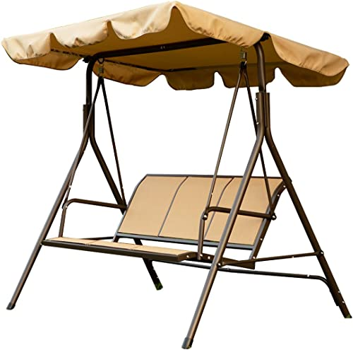 soges 3 Person Outdoor Patio Swing Porch Swing Chair