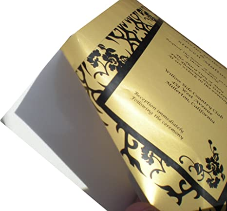 Impresora láser color dorado adhesivo X 5 Hojas De Papel A4 de ...