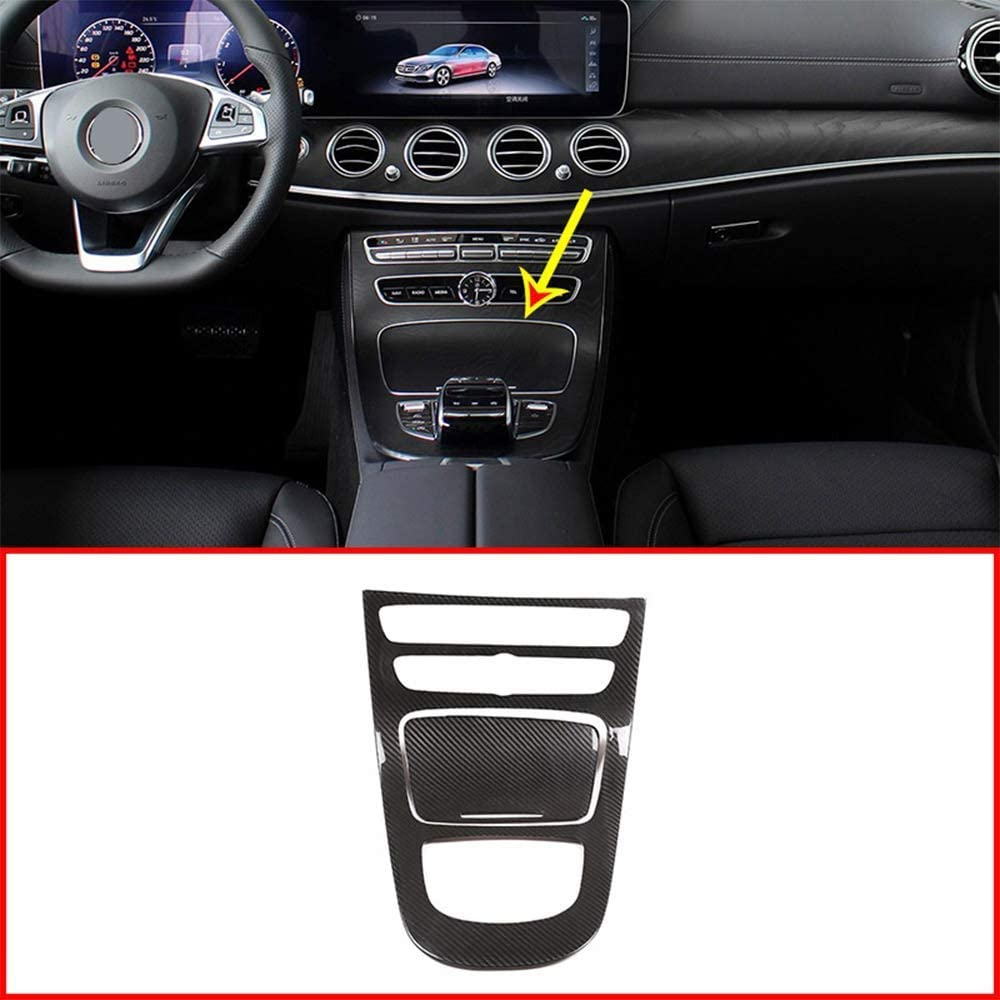 f/ür Benz E-Klasse W213 2019 Zubeh/ör YIWANG Echtkarbonfaser-Abdeckung f/ür Armaturenbrett