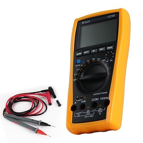 pathson VC99 LCD multímetro digital detector de corriente Multi – Medidor LCD Digital Medidor Auto Range