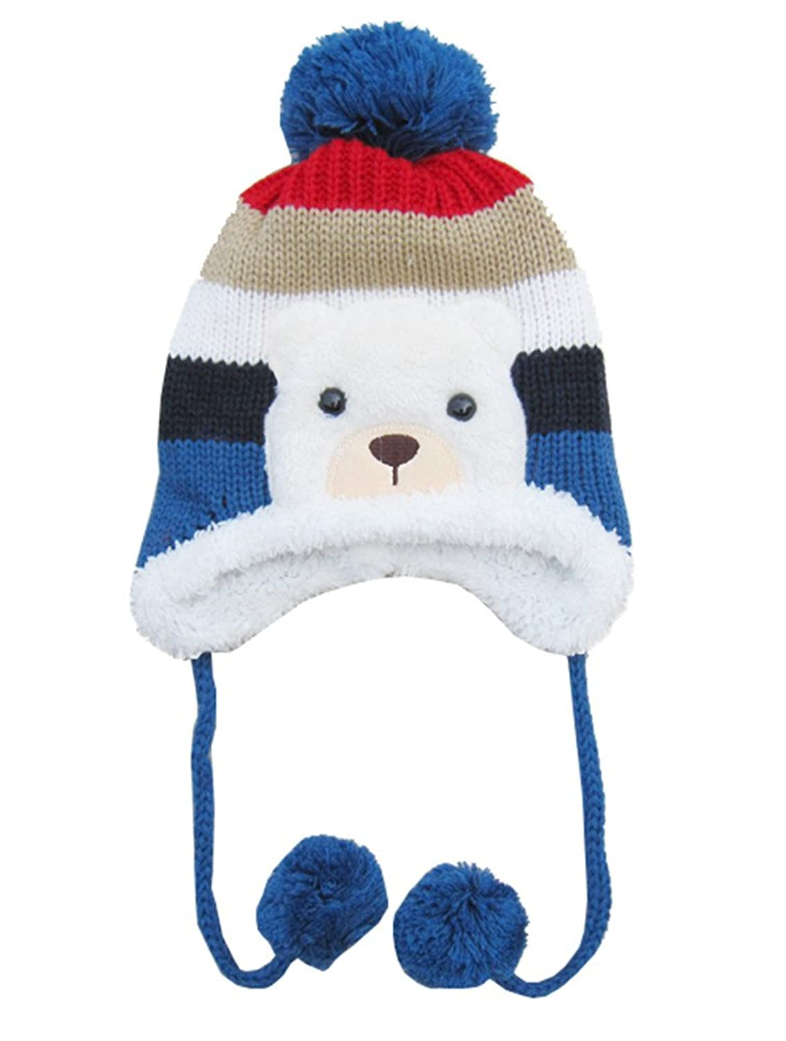 MEYKISS Infant Cute Baby Girl Boys Knit Wool Polar Bear Beanie Winter Hat Cap