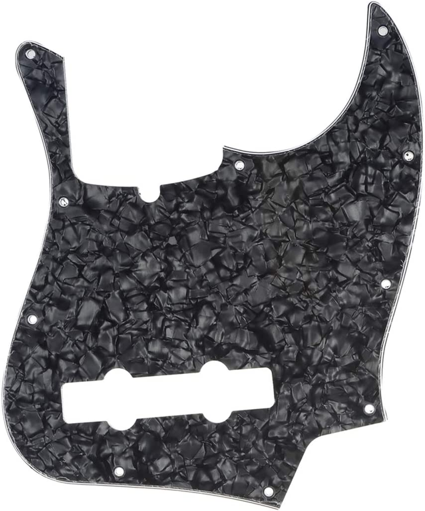 4Ply Vintage Tortoise Musiclily Pro 10-Hole Contemporary J Bass Pickguard for Fender Jazz Bass American 5-String