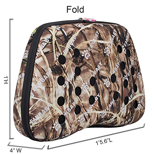 Bubble-Pet-Carrier-Portable-Comfort-Soft-Travel-Bag-Brown-Pattern-Tote-Bag-for-Dog-Cat-Small-Animal
