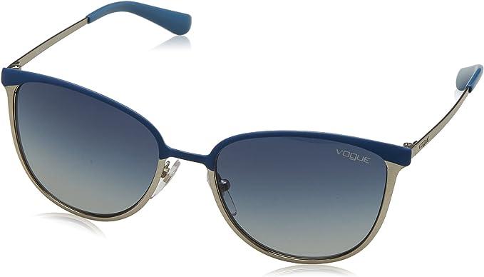 Vogue VO4002S 50254L Blue / Brushed Silver VO4002S Oval Sunglasses Lens Categor