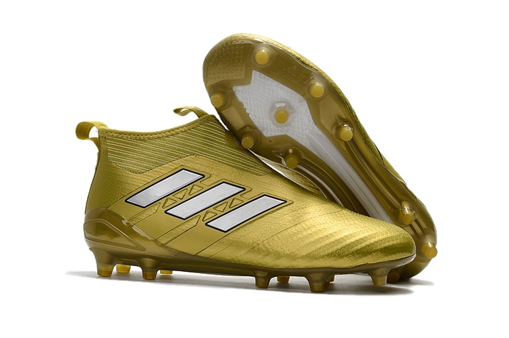 Men's High Ankle Soccer Shoes Adidas Ace 17+ Purecontrol FG Gold (US 8)