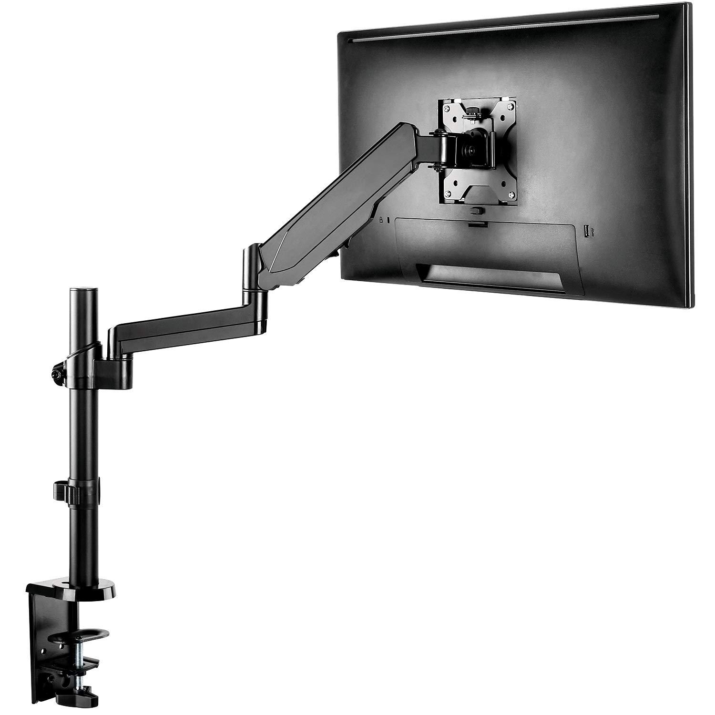 PUTORSEN Supporto da scrivania per 2 monitor TV montaggio LCD LED Computer Schermo di TV da 13-32, portata 8 kg per braccio, Nero