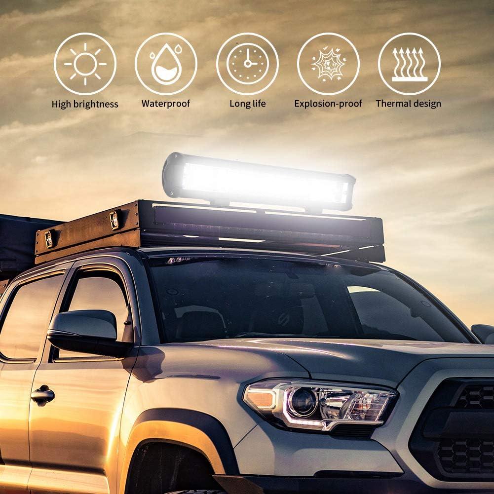 432W Sararoom 432W LED Headlight 17 Inch Off Road Flood Beam Driving Fog Lamp for Tractor, Rzr, ATV, UTV, SUV, Truck, Boat, Motorcycle LED Light Bar for Jeep