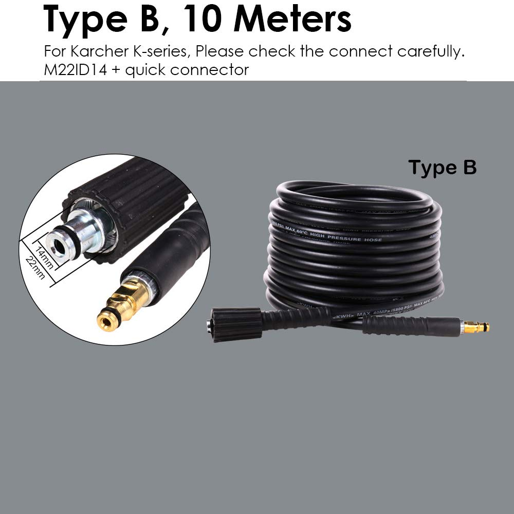 Amazon.com: 10 Meters High Pressure Washer Water Cleaning Hose for ...