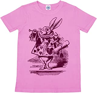 product image for Hank Player U.S.A. White Rabbit in Wonderland Girl's T-Shirt
