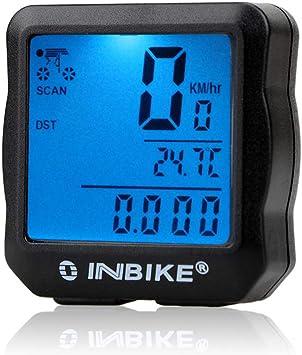 Wisdomx Bicicleta Cuentakilómetros, Velocímetro de Bicicleta con ...