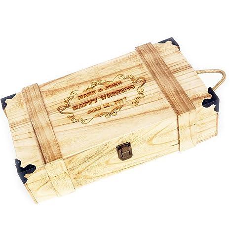 Amazon.com: awerise personalizable de madera caja de vino ...