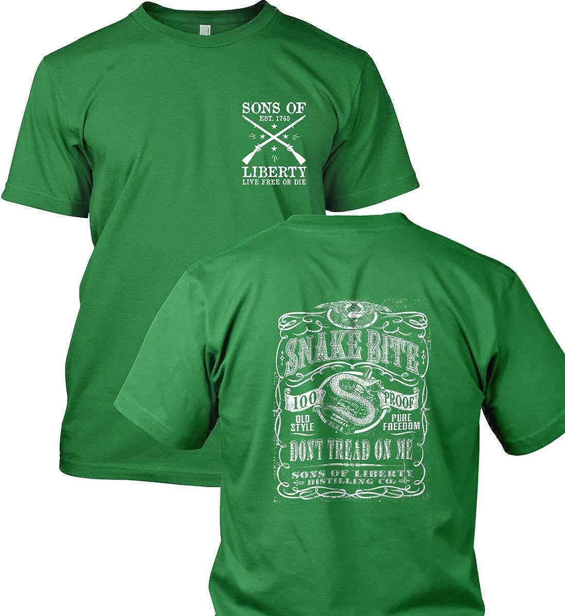 Gildan T-Shirt Snake Bite Dont Tread on Me Distilling Co