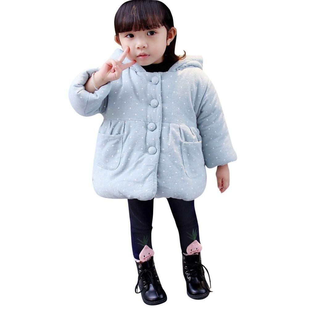 Winter S/äugling Langarm Dick Hoodie Jacke Casual Outwear mit Tasche LSAltd Kleinkind Baby Grils Warm Dot Print Baumwolle Mantel