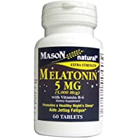 Mason Natural Vitamin Melatonin 5 Mg With Vitamin B-6 Extra Strength 60 Count