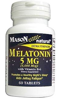 Mason Natural Vitamin Melatonin 5 Mg with Vitamin B-6 Extra Strength 60 Count