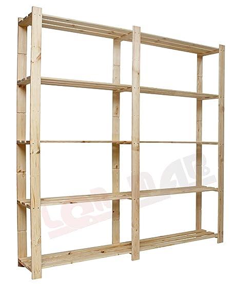 Molto MODO24 - Scaffalatura in legno B-02 HIT, con 5 ripiani 170x170x28  GP09
