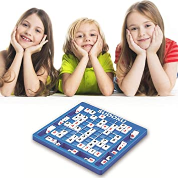 Womdee Sudoku Puzzle Board Game, Kids Games Sudoku Board with Storage Slots, Logical Developmental Intelligence Toys Gifts with 81 Digital Blocks