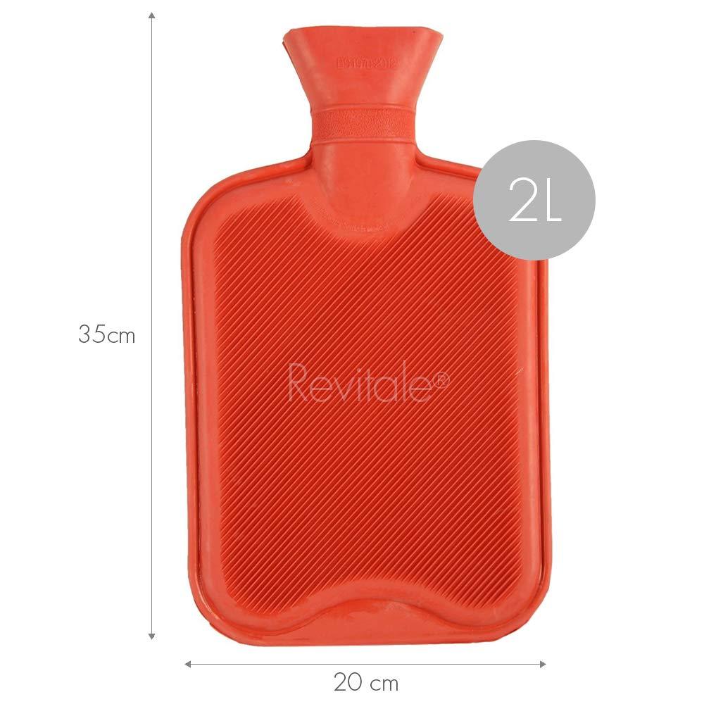 Bouillotte naturelle de qualit/é sup/érieure rose 2 litres Avec couverture douce en imitation fourrure