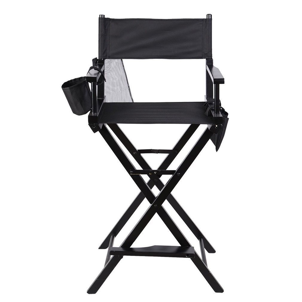 Chaise de réalisateur professionnelle Hongyans pliable avec poches latérales pour studio de maquillage, artistes, réalisateurs de film