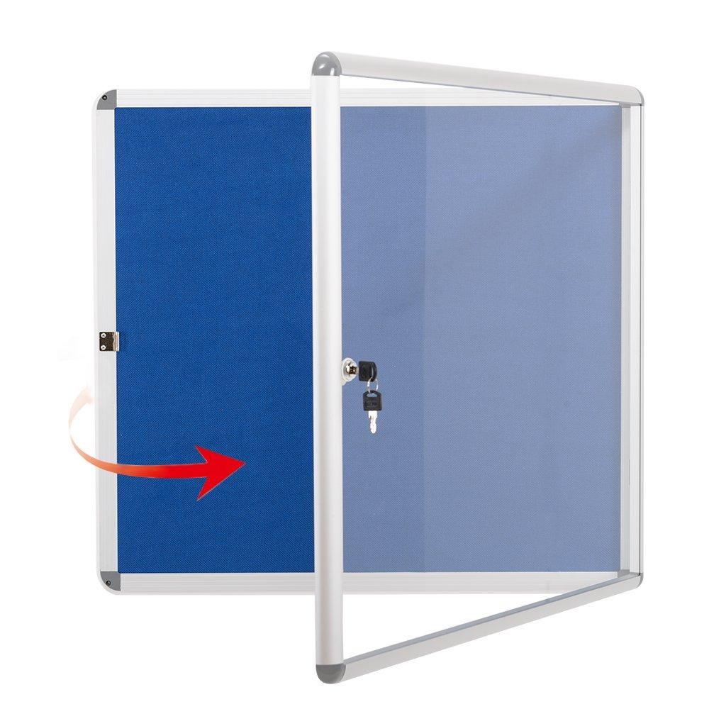 Swansea tessuto Bulletin Board FG300A Notice Board Fall con telaio in alluminio 6xA4 LENAN