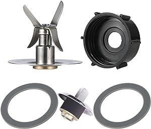 Replacement Parts Compatible with Oster Blender Osterizer Blender 1pcs Blade & 1pcs Blender Jar Base & 2 pcs Rubber Gasket Seals & 1pcs Blender Coupling + Square Drive Pin Kit (5pcs)