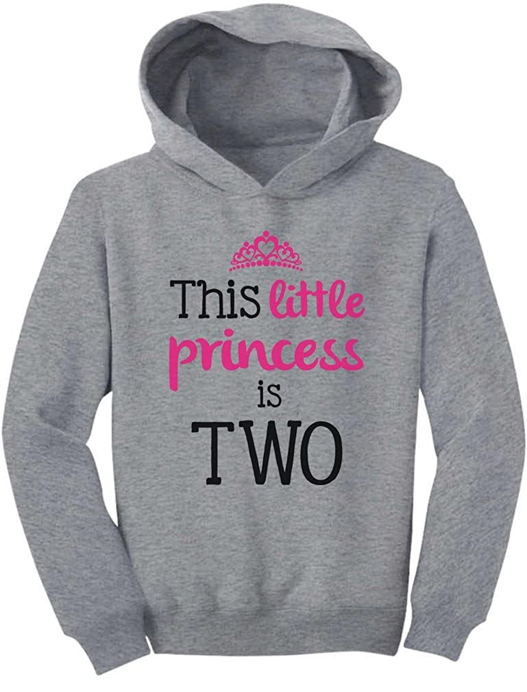 TeeStars - This Little Princess Is Two 2 Years Old Girl Birthday Toddler Hoodie 2T Gray G0PMMtZgvmllvm9to