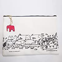 TAP 8052090 Pouch with Charm - Elephant, White