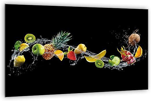 Glas-Herdabdeckplatte Ceranfeldabdeckung Spritzschutz 80x52 Herz aus Früchten