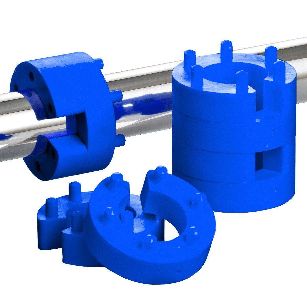 8er Set 13mm Federwegsbegrenzer Blue Line mit 6-Fach Positionierung Federwegbegrenzer xenohype