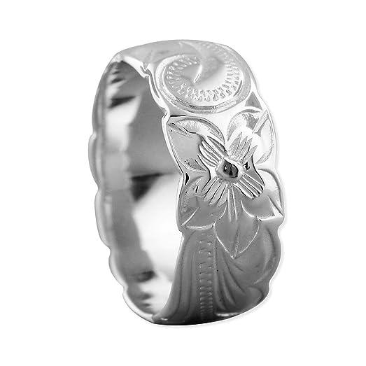 sterling silver hawaiian wedding band ring 75mm size 5 - Hawaiian Wedding Ring