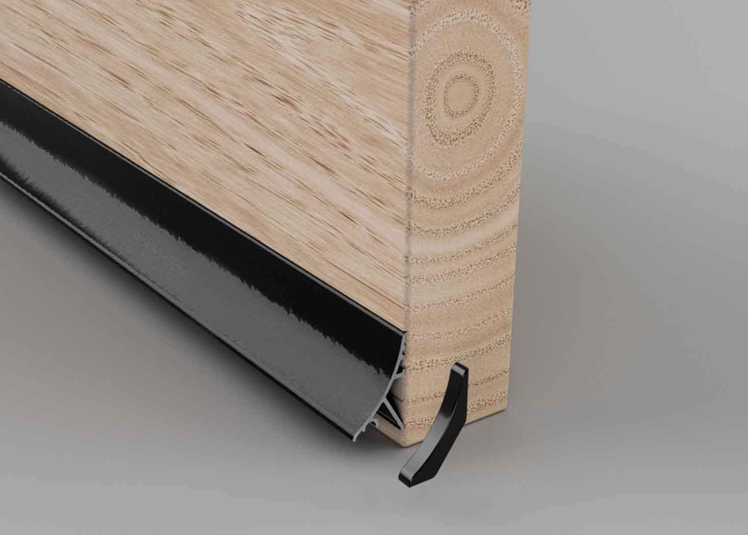 Black Stormguard Concealed Rain Water Weather Deflector Bar Door Drip Board UPVC Timber Guard Metal 32mm