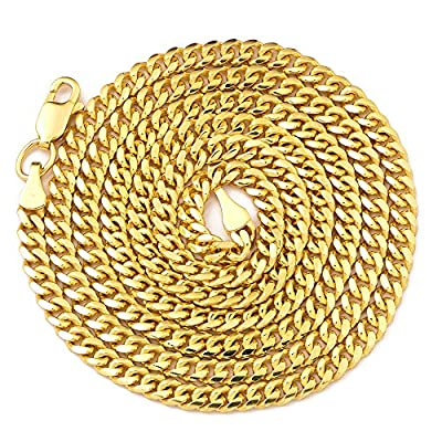 """LoveBling 14K Yellow Gold 2.5mm Solid Miami Cuban Necklace with Lobster Lock (Available in 18"""" - 30"""") by LoveBling"""