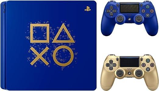 Sony Playstation 4 Days of Play Limited Edition Consola Delgada de 1 TB con Controlador inalámbrico Dualshock 4 Extra Dorado: Amazon.es: Hogar
