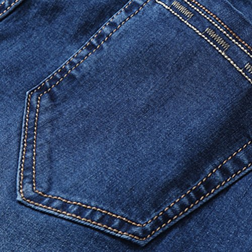 Forma Allungare Blu Denim Casuale Magro Outwear Uomo Anguang Buio Sottile Stretchable Jeans In Pantaloni OnIUwqvH
