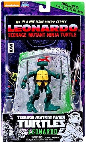 Teenage Mutant Ninja Turtles, Micro Comic Series, Leonardo Action Figure