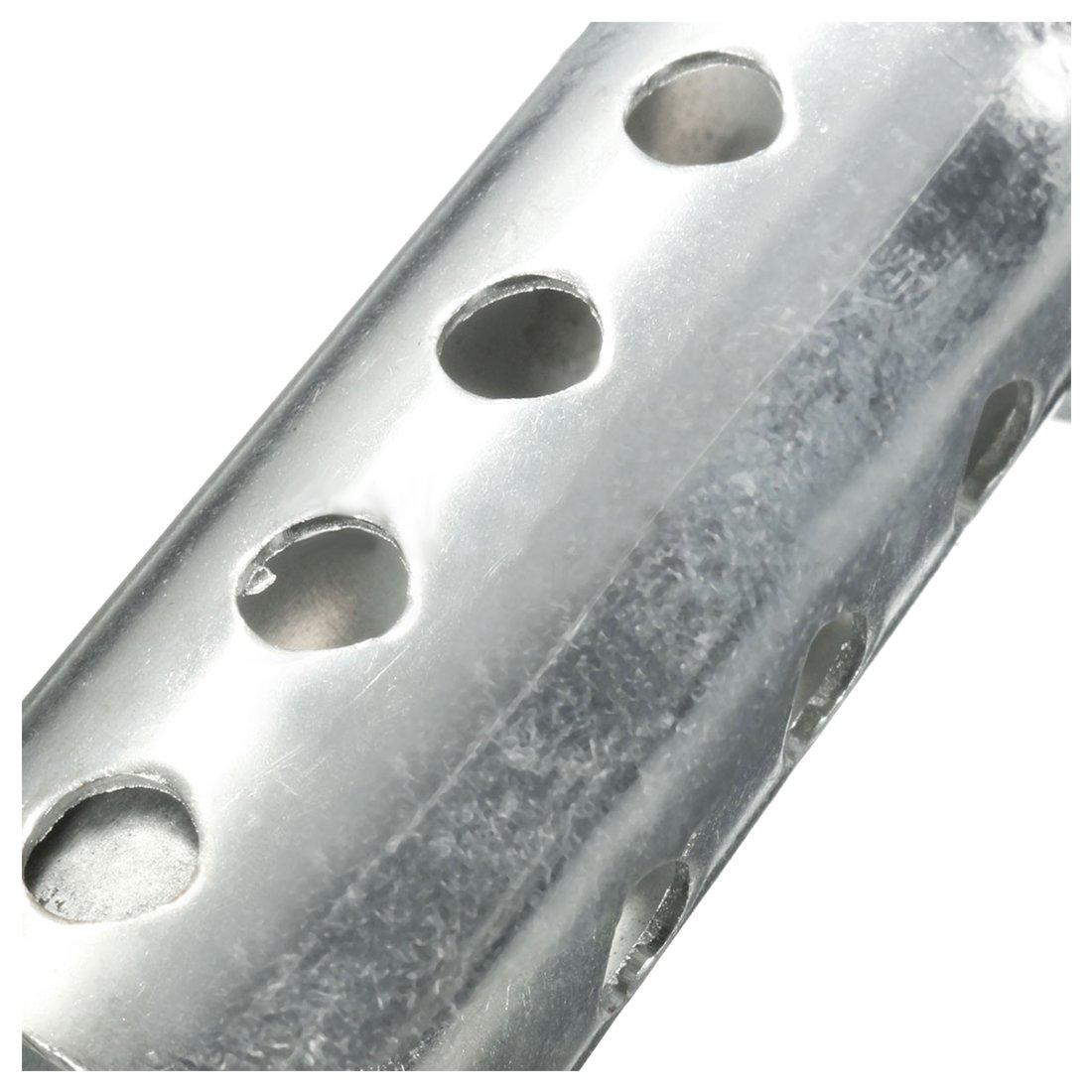 XZANTE Silver Pot D/échappement de Moto Peut Ins/érer Silencieux Baffle DB Killer Silencieux 48Mm X 80Mm