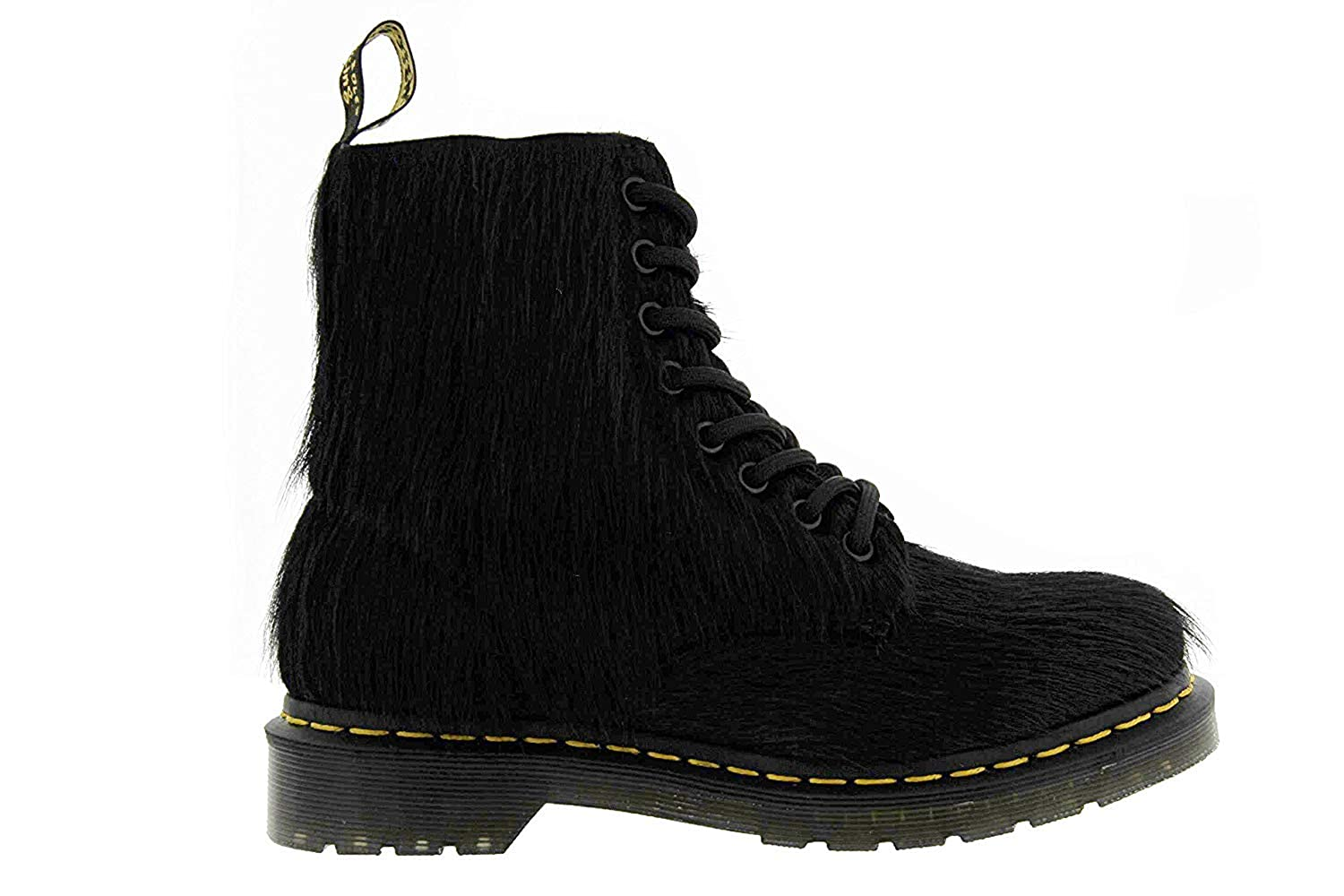 brand new 82060 bcd19 Amazon.com   Dr. Martens Women s 1460 8 Eye Hair Fashion Boots, Black  Leather, 4 M UK, 6 M US   Boots