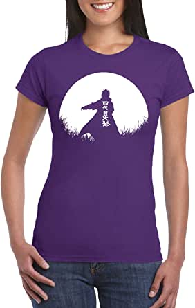 Purple Female Gildan Short Sleeve T-Shirt - Minato – Half Circle design