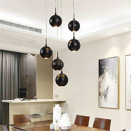 Buena Araña Creativa Lámpara de Escalera Doble Moderna Minimalista Restaurante Lámpara LED Villa giratoria Escalera Larga araña: Amazon.es: Hogar