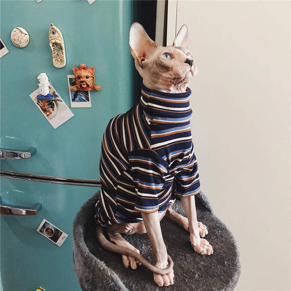 Azul HCYD Sphinx Ropa sin Pelo Ropa para Gatos art/ículos para Mascotas Gatitos M