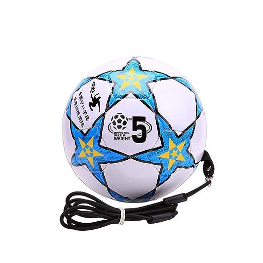 LIOOBO Pelotas hinchables de fútbol con balón Kick Throw Trainer ...