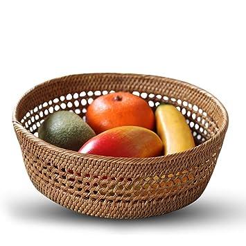 WEEKDEGY Bandeja de Frutas Sala de Estar Plato de Fruta Bandeja de Fruta Snack Storage Basket Storage Box Escritorio Placa de Fruta (Diseño : A): Amazon.es: ...