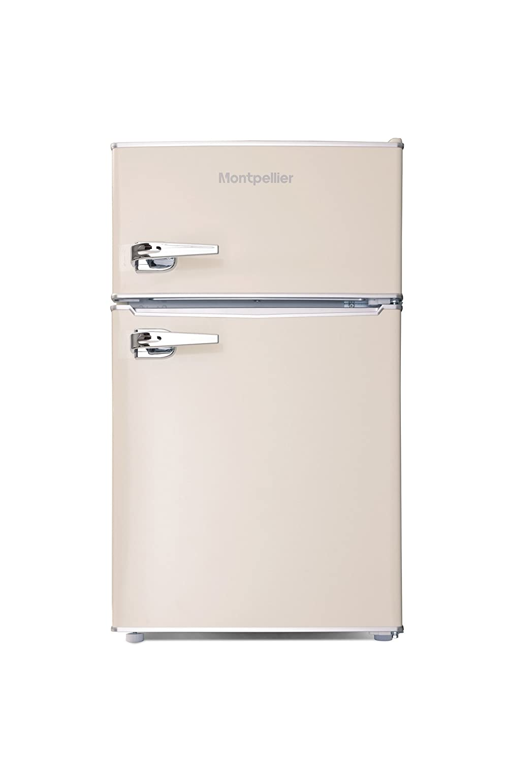 Montpellier MAB2030C Mini Retro Freestanding Under Counter Fridge Freezer - Cream [Energy Class A+]