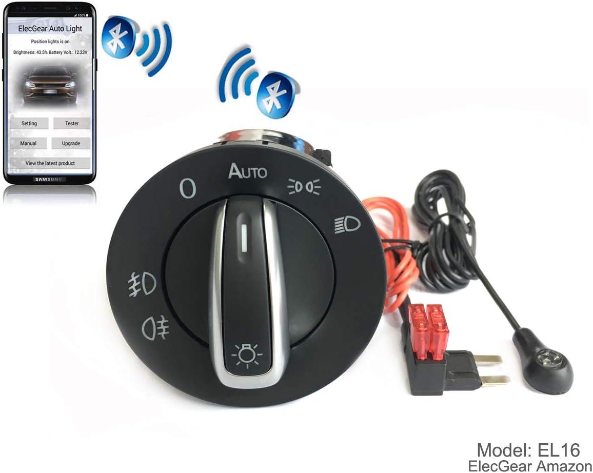 EL4 Bluetooth App Commande Phare Feux auto commutateur Toledo IV Seat Ateca Octavia 3 Coming Leaving Home Relais Superb B8 Brouillard Lumi/ère Interrupteur de Contr/ôle Unit/é Leon 3 5F